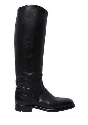 20MM EMBOSSED LEATHER RIDING BOOTS