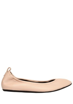 10MM LEATHER BALLERINA FLATS