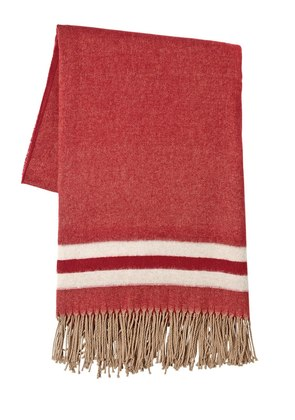 OVERSIZED FRINGED WOOL SCARF