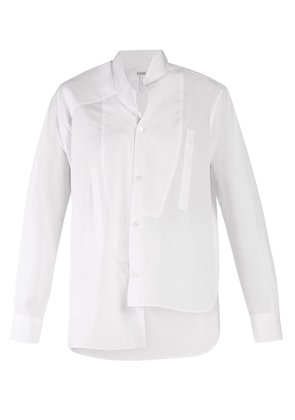 Asymmetric bib shirt