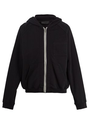 Zip-through hooded jacket