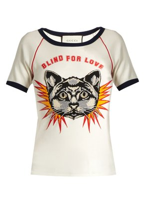 Blind for Love-print cotton-jersey T-shirt