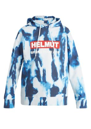 Bleacher printed cotton hooded sweatshirt