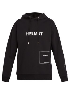 Logo-printed hooded sweatshirt