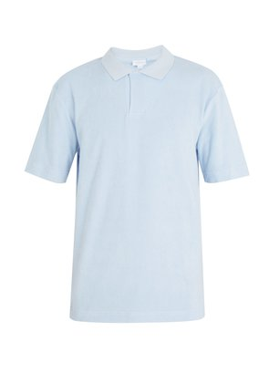 Terry-towelling cotton polo shirt