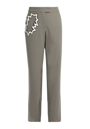 Smash-pocket wool-crepe trousers