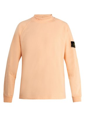 High-neck cotton sweatshirt