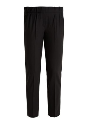 Slim-leg wool-blend cropped trousers