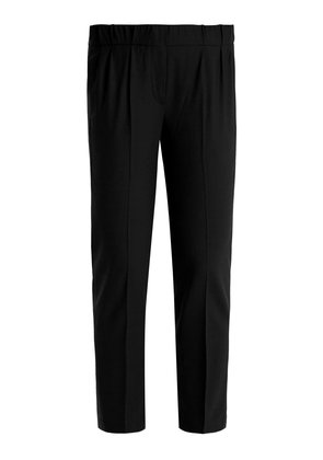 Slim-fit lightweight wool-blend trousers