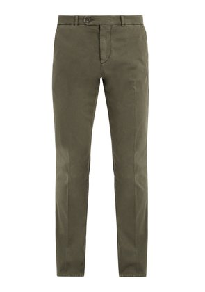Straight-leg stretch-cotton chino trousers