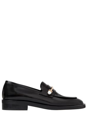 20MM BEPPE PIERCING LEATHER LOAFERS