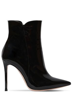 105MM PATENT LEATHER ANKLE BOOTS