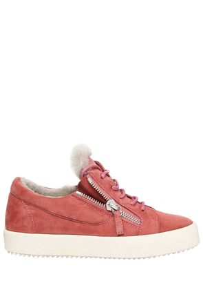 20MM SUEDE & SHEARLING SNEAKERS
