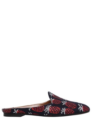 10MM BRANDO PINEAPPLE JACQUARD MULES