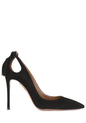 105MM FOREVER MARILYN SUEDE PUMPS