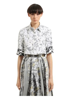 FLORAL DOUBLE PRINTED COTTON SHIRT