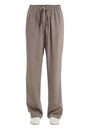 WASHED CREPE DE CHINE CUPRO PANTS