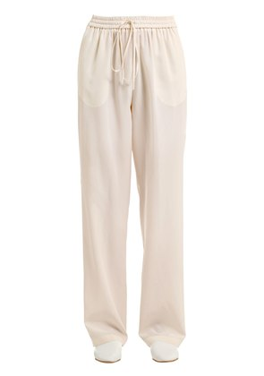 WASHED CREPE DE CHINE SILK PANTS