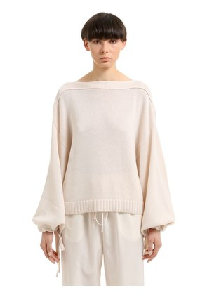 COTTON, CASHMERE & SILK BLEND SWEATER