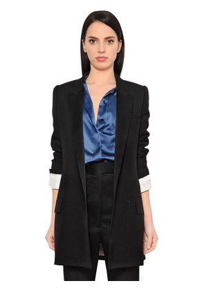 COOL WOOL & SATIN BLAZER