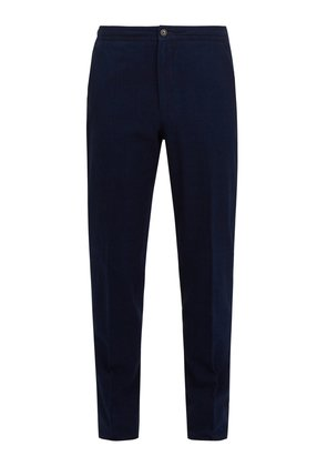 Mid-rise cotton trousers
