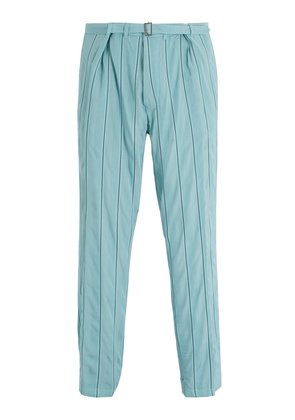Striped tapered-leg trousers
