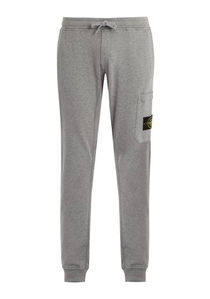 Mid-rise cotton track pants