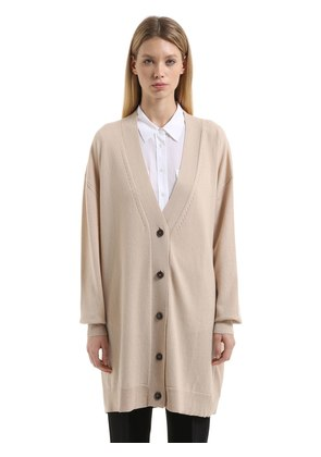 OVERSIZED CASHMERE LONG CARDIGAN