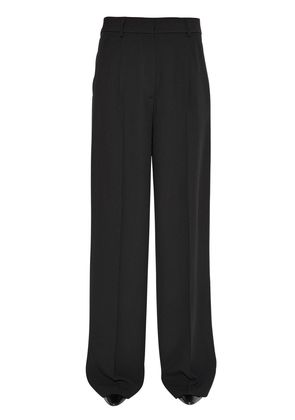 WIDE MATTE SATIN TROUSERS