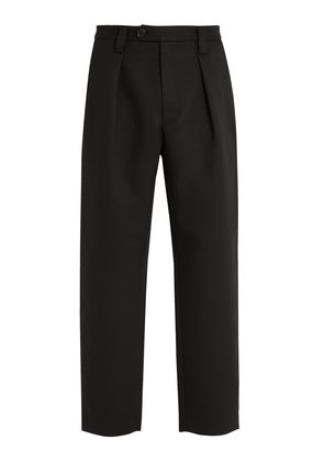 Airan Poly pleated straight-leg trousers