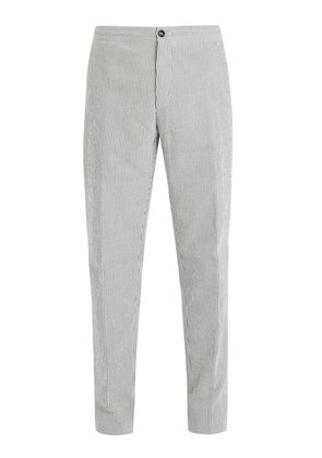 Pin-striped cotton trousers