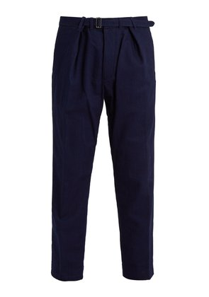 Mid-rise straight-leg denim trousers