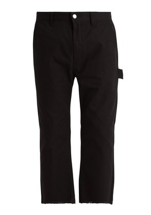Carpenter cotton-canvas cropped trousers