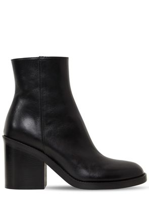90MM BRUSHED LEATHER ANKLE BOOTS