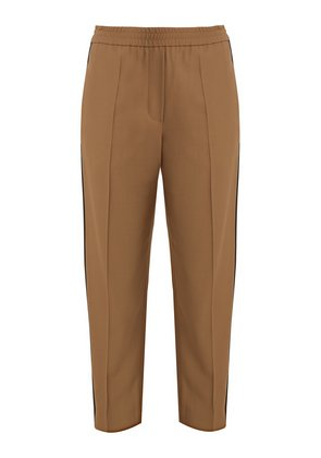 Slim-fit contrast-stripe trousers