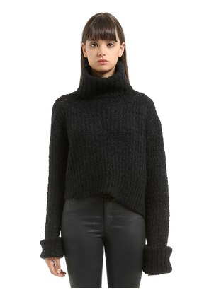 TRAPPER MOHAIR BLEND KNIT SWEATER