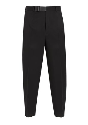 Pier S.15 belt-detail cropped wool trousers