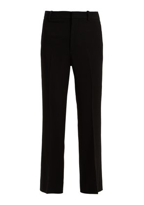 Kick-flare cady trousers