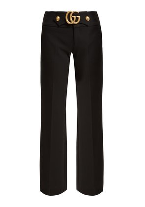 GG wool and silk-blend cady kick-flare trousers