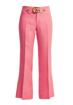 GG stretch-cady kick-flare trousers
