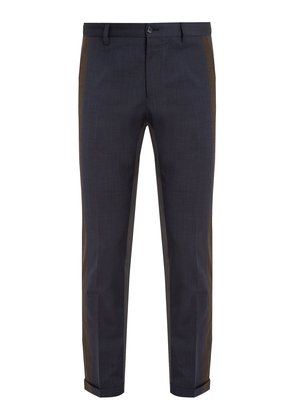 Tri-colour tapered-leg trousers
