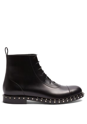 Micro Rockstud leather boots