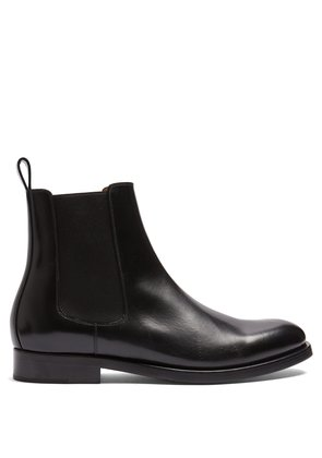 New Tuxedo leather chelsea boots