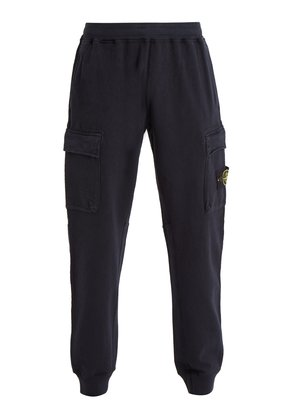 Mid-rise pocket-detail cotton track pants