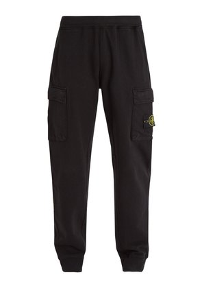 Patch-pocket cotton-jersey track pants