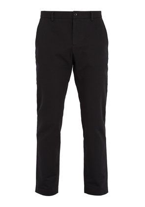 Logo-embroidered cotton chino trousers