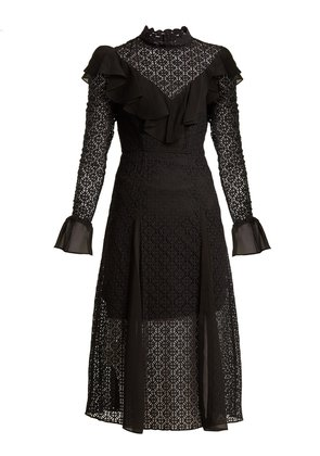 Prairie ruffled lace dress