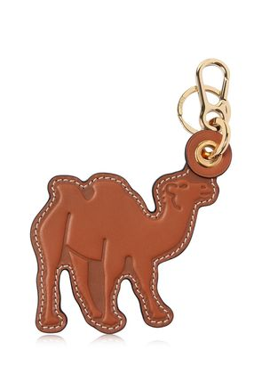 CAMEL LEATHER CHARM KEYCHAIN
