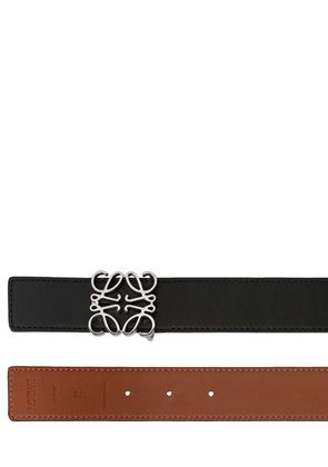 40MM REVERSIBLE ANAGRAM LEATHER BELT