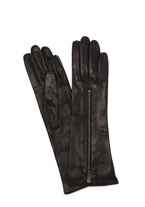ZIPPED MID LEATHER GLOVES